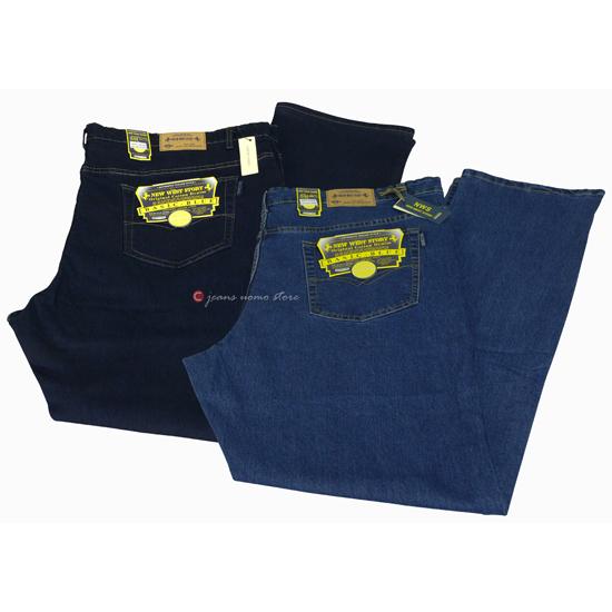 848dc4f21630 Jeans Uomo Tasche a filo elasticizzato Calibrato Vita e Cavallo alto